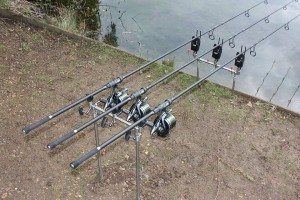 Century C2 setup on the bank